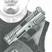 S.w.a.t. Team Leader Holding A Springfield Armory Xd 40 Cal Weapon Art Print by Sharon Blanchard
