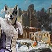Swedish Elkhound - Jamthund Art Canvas Print  Art Print