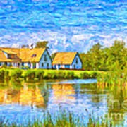 Swedish Lakehouse Art Print