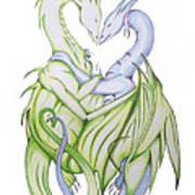 Swedish Love Dragons Art Print