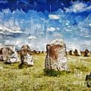 Swedish Standing Stones Art Print