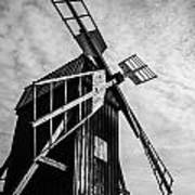 Swedish Windmill One Of The 400 Year Old Art Print