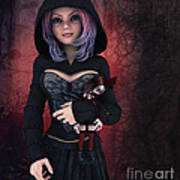 Sweet Betty With Gothic Doll Art Print