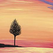 Sweet Raspberry Sunset Art Print