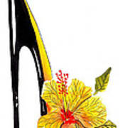 Sweetheart Hibiscus Stiletto Art Print