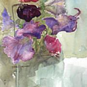 Sweetpeas 3 Art Print