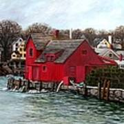 Swells In The Harbor Art Print