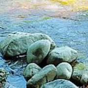 Swift River Rock Kancamagus Highway Nh Art Print
