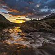 Swiftcurrent Sunrise Print by Joseph Rossbach