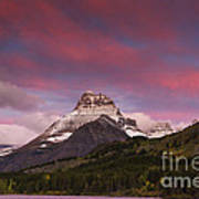 Swiftcurrent Sunrise Art Print
