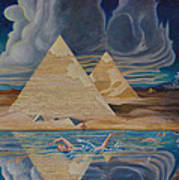 Swimming In That River In Egypt Art Print