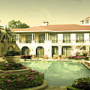 Swimming Pool In Luxury Hotel Art Print