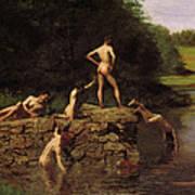 Swimming Art Print by Thomas Eakins