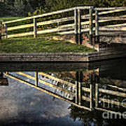 Swing Bridge Reflected Art Print