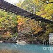 Swinging Bridge Art Print