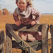 Swinging On A Gate Detail Art Print