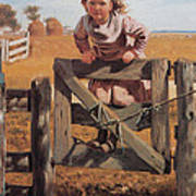 Swinging On A Gate Art Print