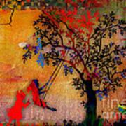 Swinging On A Tree Art Print
