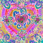 Swirley Heart Variant 1 Art Print