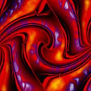 Swirling Fires Art Print