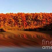 Swirling Reflections With Fall Colors Art Print by Dan Friend