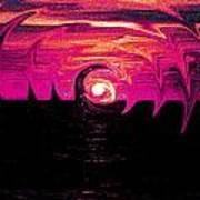 Swirling Sunset In Fuchsia  Art Print