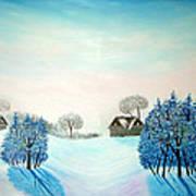 Swiss Opus Blue Christmas Art Print