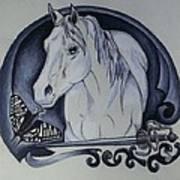 Sword And Horse Art Print