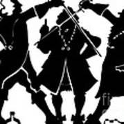 Sword Duel Silhouette  Art Print