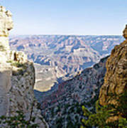 Swtichback Trails On The Steep Walls Of The Grand Canyon Art Print