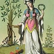 Sybil Of Delphi, No. 15 From Antique Art Print