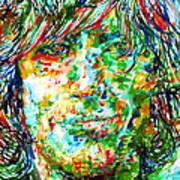 Syd Barrett - Watercolor Portrait Art Print