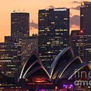 Sydney At Sunset Art Print
