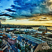 Sydney Harbor Sunrise Art Print
