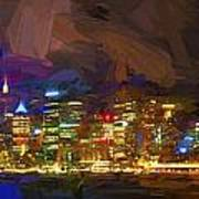 Sydney Harbour At Night Art Print