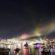 Sydney Navy Fleet Fireworks Art Print