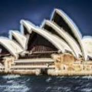 Sydney Opera House V11 Art Print
