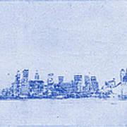 Sydney Skyline Blueprint Art Print by Kaleidoscopik Photography