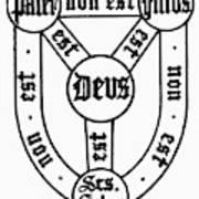Symbol Holy Trinity Art Print