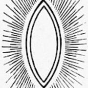 Symbol Vesica Piscis Art Print
