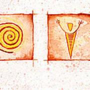 Symbols In Stone Art Print
