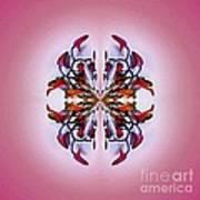 Symmetrical Orchid Art - Reds Art Print