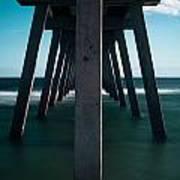 Symmetry Under The Pier  Art Print
