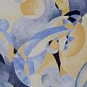 Syncopation In Blue Art Print