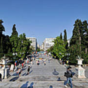 Syntagma Square In Athens Art Print