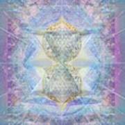 Synthecentered Doublestar Chalice In Blueaurayed Multivortexes On Tapestry Lg Art Print