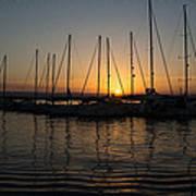 Syracuse Harbor Sunset Art Print