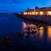 Syracuse Sicily Blue Hour - Ortygia Evening Mood Art Print