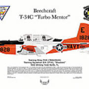 T-34c Turbo Mentor Vt-6 Art Print