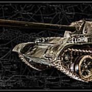 T-54 Soviet Tank Bk-bg Art Print